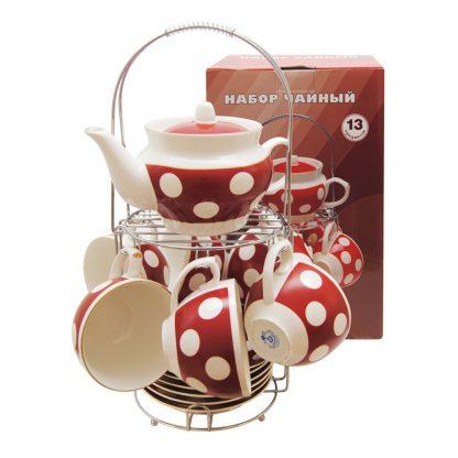 Купить Сервиз чайный Горох 6/13пр 220мл фарфор в Санкт-Петербурге по недорогой цене и с быстрой доставкой.
