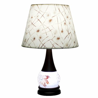 Купить Лампа настольная Символ Света 17191 1*Е27*60Вт темно-коричневый/абажур белый в Санкт-Петербурге по недорогой цене и с быстрой доставкой.