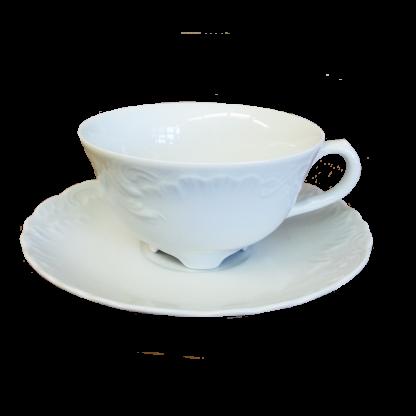 Купить Пара чайная Rococo (без декора) низкая 220мл фарфор в Санкт-Петербурге по недорогой цене и с быстрой доставкой.