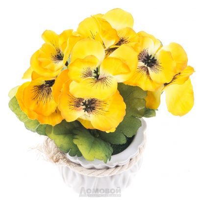 Купить Растение искусственное Анютины Глазки