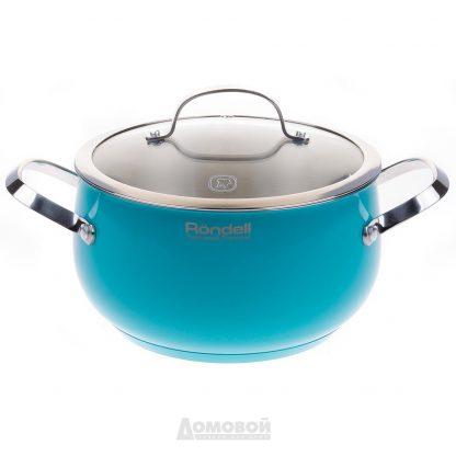 Купить Кастрюля с крышкой Rondell Turquoise RDS-718