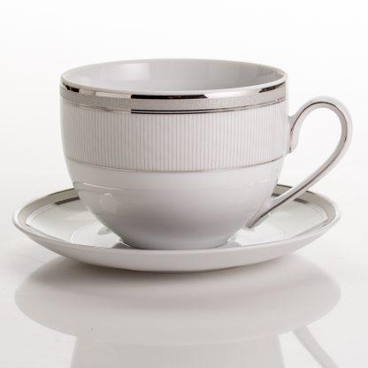 Купить Пара чайная Платина 450мл фарфор в Санкт-Петербурге по недорогой цене и с быстрой доставкой.