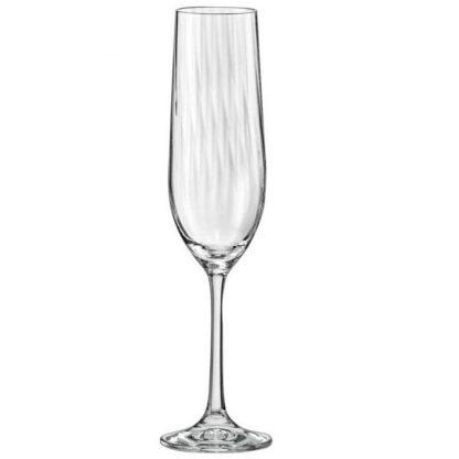 Купить Набор бокалов  д/шампанского Виола 6шт 190мл оптика стекло в Санкт-Петербурге по недорогой цене и с быстрой доставкой.