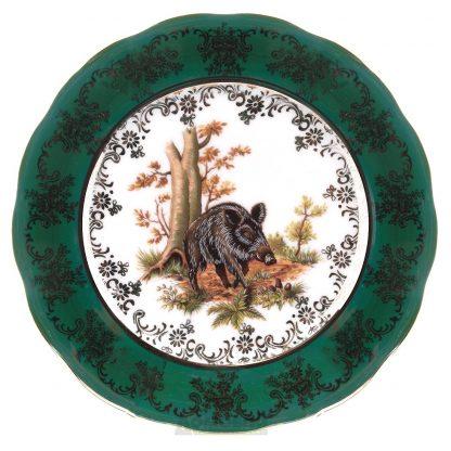 Купить Набор тарелок Охота Зеленая десертные 6шт 19см