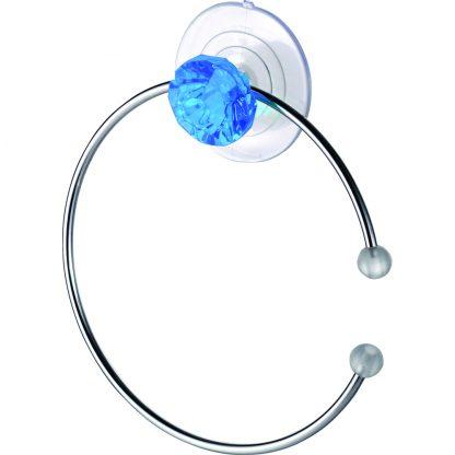 Купить Полотенцедержатель кольцо Бриллиант синий в Санкт-Петербурге по недорогой цене и с быстрой доставкой.