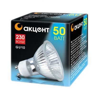 Купить Лампа галогенная АКЦЕНТ JCDRC 230V 50W GU10 в Санкт-Петербурге по недорогой цене и с быстрой доставкой.