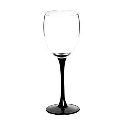 Купить Набор бокалов  д/вина Домино 6шт 250мл черная ножка стекло в Санкт-Петербурге по недорогой цене и с быстрой доставкой.