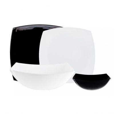 Купить Столовый набор Квадрато черно-белый + салатник 24см