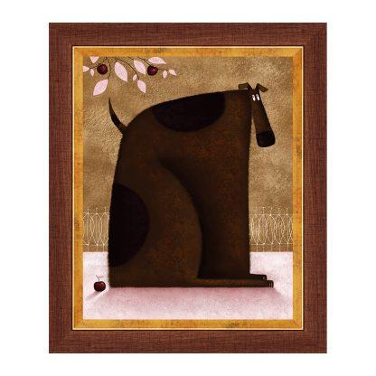Купить Картина постер в раме Собака