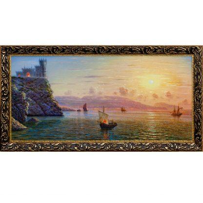 Купить Картина в раме Лунная ночь. Вид на Ялту 33х70см в Санкт-Петербурге по недорогой цене и с быстрой доставкой.