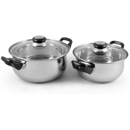 Купить Набор посуды Mallony Baks-set 4пр(кастрюли с крышками 2л