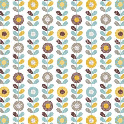 Купить Наволочка для декоративных подушек Цветы геометрия