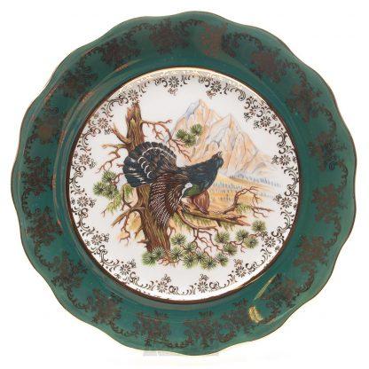 Купить Набор тарелок Охота Зеленая плоские 6шт 25см