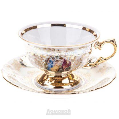 Купить Набор чайный Мадонна 6/12пр 155мл фарфор золото в Санкт-Петербурге по недорогой цене и с быстрой доставкой.