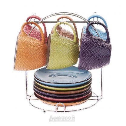Купить Набор чайный Радуга 6/13пр керамика н/мет. подст в Санкт-Петербурге по недорогой цене и с быстрой доставкой.
