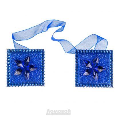 Купить Зажимы для штор квадратные синие в Санкт-Петербурге по недорогой цене и с быстрой доставкой.