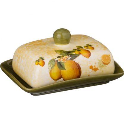 Купить Масленка Лимоны 17см керамика в Санкт-Петербурге по недорогой цене и с быстрой доставкой.