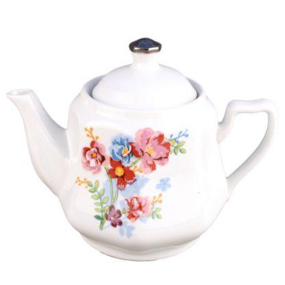 Купить Чайник заварочный букет на голубом 600мл фарфор в Санкт-Петербурге по недорогой цене и с быстрой доставкой.
