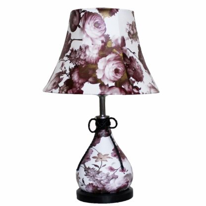 Купить Лампа настольная Символ Света 10380 1*Е27*60Вт бордовый/белый в Санкт-Петербурге по недорогой цене и с быстрой доставкой.