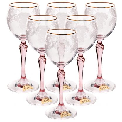 Купить Набор бокалов д/вина Люция Розовая лоза