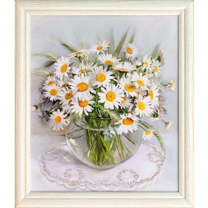 Купить Картина в раме Ромашки 30х25см в Санкт-Петербурге по недорогой цене и с быстрой доставкой.