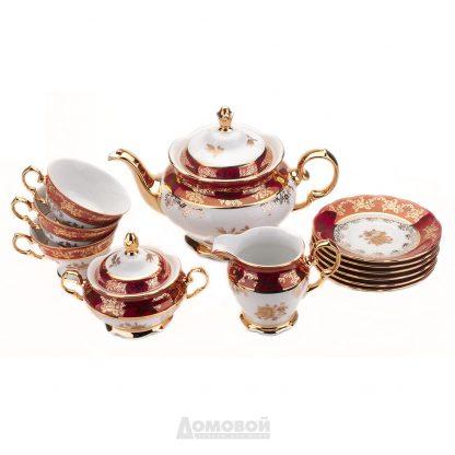 Купить Сервиз чайный Злата Роза 6/15пр 155мл фарфор золото в Санкт-Петербурге по недорогой цене и с быстрой доставкой.