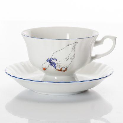 Купить Пара чайная Золотой вензель 220мл фарфор в Санкт-Петербурге по недорогой цене и с быстрой доставкой.