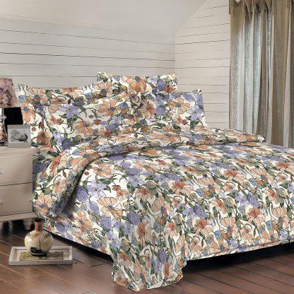 Купить Комплект постельного белья Сатин-гофре Евро