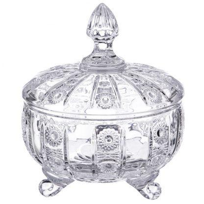 Купить Конфетница с крышкой Кристал 13см стекло в Санкт-Петербурге по недорогой цене и с быстрой доставкой.
