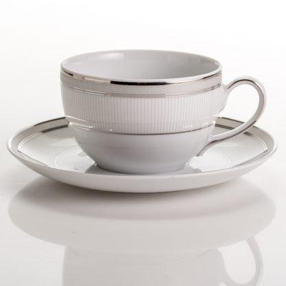 Купить Пара чайная Платина 250мл фарфор в Санкт-Петербурге по недорогой цене и с быстрой доставкой.