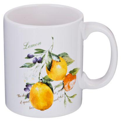 Купить Кружка Итальянские лимоны 350мл керамика в Санкт-Петербурге по недорогой цене и с быстрой доставкой.