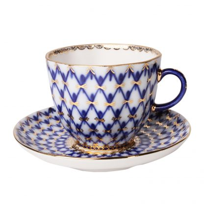 Купить Пара кофейная Тюльпан Кобальтовая сетка