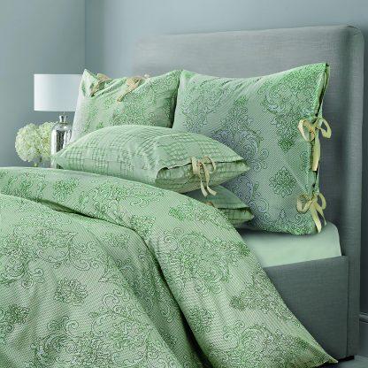 Купить Комплект постельного белья SL Chalet зеленая олива Евро