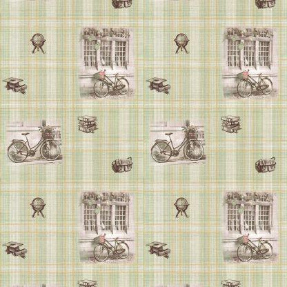 Купить Обои Гомельобои (бумажные дуплекс) Шотланка 6072-72 (рисунок 1-1) зел 0