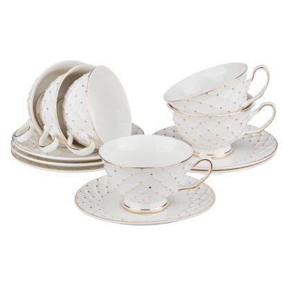 Купить Набор чайный Сетка 6/12пр 200мл фарфор в Санкт-Петербурге по недорогой цене и с быстрой доставкой.