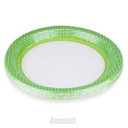Купить Набор тарелок одноразовых бум. Зеленая Линия