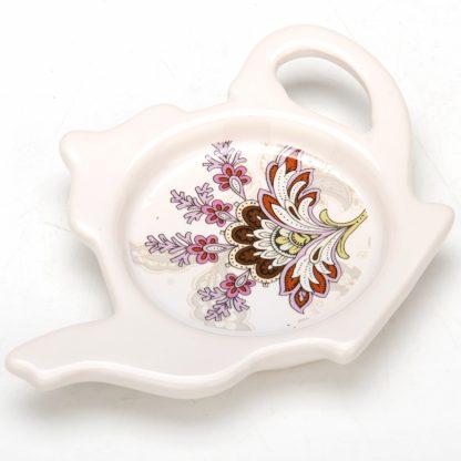 Купить Подставка под чайный пакетик Узор 2шт 13см керамика в Санкт-Петербурге по недорогой цене и с быстрой доставкой.