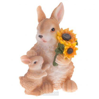 Купить Фигура садовая Заяц с зайчишкой