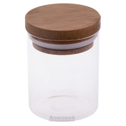 Купить Банка д/хранения продуктов с бамбуковой крышкой