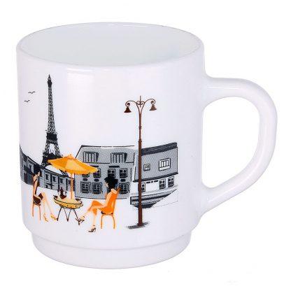 Купить Кружка Париж 290мл стекло в Санкт-Петербурге по недорогой цене и с быстрой доставкой.