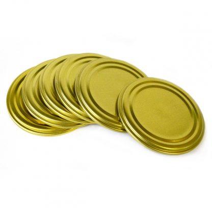 Купить Крышкa металлическая закаточная Komfi в упаковке 50шт в Санкт-Петербурге по недорогой цене и с быстрой доставкой.